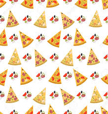 pizza pattern wallpaper. Simple Pizza Illustration Seamless Pattern With Slices Of Pizza Colorful Food Wallpaper   Vector Stock For Pizza P
