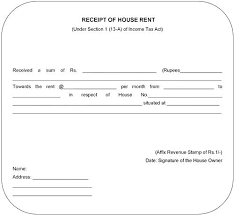 rental receipt pdf house rent receipts house rent receipt form rental template word