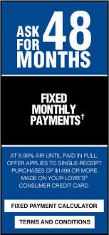lowes appliance financing. Simple Appliance Ask For 48 Months Fixed Monthly Paymentu2020 At 899 AIR Until Paid In Full To Lowes Appliance Financing