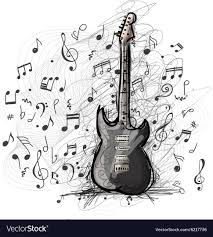 Guitar Design Art Sketch Of Guitar Design