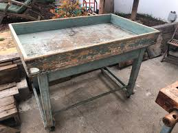 Vintage Industrial Bakers Chef Pastry Kitchen Table Planter Etsy