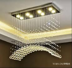 details about led new modern k9 clear crystal ceiling light pendant lamp chandelier lighting