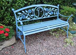 Lovely Garden Bench In Forged Metal With Rose Detail  Landart Garden Metal Bench