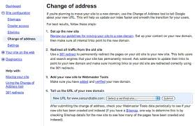 Change Of Address Who To Notify Google Adds Change Of Address To Notify Google Of Domain Change