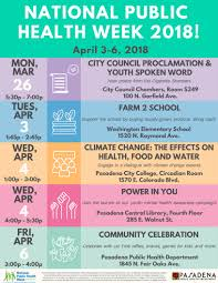 national public health week 2018