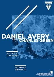 Avery Event Tickets Mixmag Live Daniel Avery Patterns Brighton Patterns