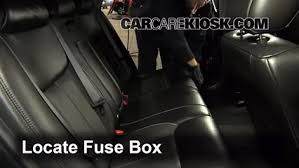 interior fuse box location 2006 2011 cadillac dts 2006 cadillac locate interior fuse box and remove cover