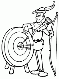 Small Picture Robin Hood Coloring Pages