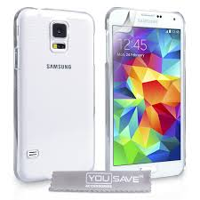 samsung galaxy s5 cases. yousave accessories samsung galaxy s5 hard case - crystal clear cases d