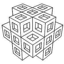 Small Picture Easy Geometric Coloring Pages Bestofcoloringcom