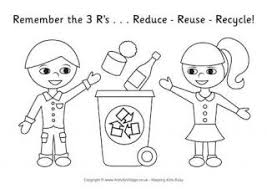 Small Picture Recycling Colouring Pages