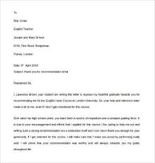 Thank You Letter Reference 9 Thank You For A Recommendation Letters Pdf