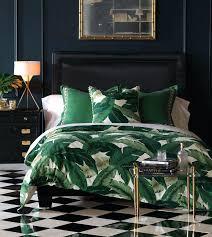 full image for lanai palm duvet cover leaf print bedding duvet cover harlequin leaf double duvet