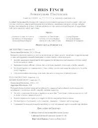 Electrical Contractor Resumes Electrician Resume Examples Joefitnessstore Com