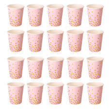 Paper Cup Size Chart Pack Of 20pcs Polka Dot Paper Cups Baby Shower Birthday Party Supplies Ebay