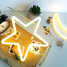 star wall light neon room decor led sign star lamp battery powered wall light bright star wall light