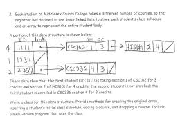 create college class schedule solved 2 each student at middlesex county college takes