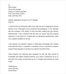 Gallery Of Sample Information Technology Cover Letter Simple Resume
