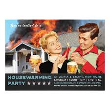 Housewarming Funny Invitations Funny Housewarming Party Invitations On Fire Ladyprints