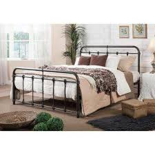 iron bed furniture. Mandy Vintage Industrial Black Finished Metal Queen Size Bed Iron Furniture