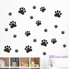 dog wallpaper for walls. Wonderful Dog 3828cm Cartoon Dog Footprint Wall Stickers For Kids Room Livingroom  Decor Removable Bedroom Decals Pvc Wallpaper Nursery  Intended Walls