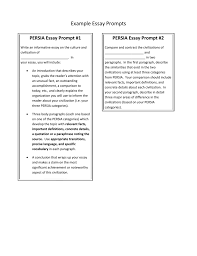 Example Essay Prompts Persia Example Essay Prompts