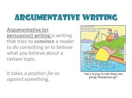 argumentative writing a fast food example will be used as an  argumentative writing argumentative or persuasive writing is writing that tries to convince a reader
