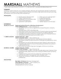 Clinical Director Resume Managing Director Resume Assistant Director ...