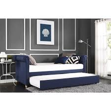 upholstered day bed. Unique Upholstered Silver Orchid Lawrence Navy Linen Upholstered Daybed And Trundle And Day Bed L