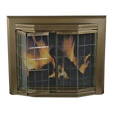pleasant hearth grandior fireplace glass door for masonry fireplaces large antique brass