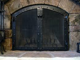 iron fireplace screen barn