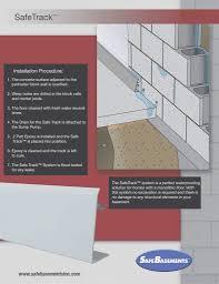 basement drainage design. Fancy Safetrack™ Waterproofing System | Basement Drainage Safebasements™ Regarding Favorite Safe Design
