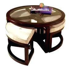 round coffee tables with seats table stools rustic 4 storage coffe topic to glass ottomans