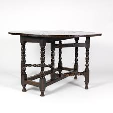 handsome english oak eg table with bobbin turned legs wonderfully rich patination circa 1800