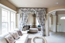 Valance Curtains For Living Room Fleur Noir Wide Overlapping Style Swag Valance Curtain Set Classic