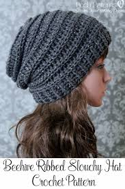 Crochet Patterns Hats Beauteous Crochet PATTERN Easy Crochet Pattern Crochet Slouchy Hat Pattern