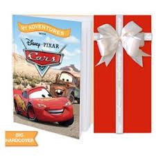 Kids Personalised Book Disney Pixar Cars Red Wrappings
