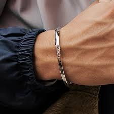 Mcllroy <b>Steel C Shaped</b> Bangle Bracelets Fashion Titanium <b>Steel</b> ...