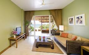 Painted Living Room Walls Lovely Living Room Interior Nuance With Calm Green Wall Paint