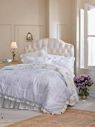 classic bedroom design with lilac ruffle shabby chic bedding sets for idea 12