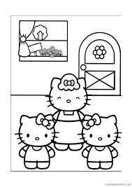 These free valentine's day coloring pages will give you a way to keep the kids busy and happy while the weather is still cold and snowy outside. Hello Kitty Coloring Pages Cartoons Happy Valentines Day Hello Kitty Heart Printable 2020 3158 Coloring4free Coloring4free Com