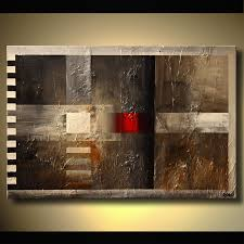 abstract giclee print on canvas on wall art red dot with painting abstract with red dot 6541