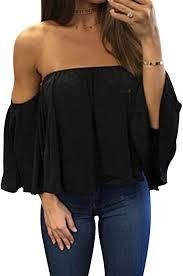 <b>Women's Summer Off Shoulder</b> Blouses Short Sleeves <b>Sexy</b> Tops ...