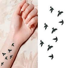2018 Módní Zápěstí Flash Tetování Fake Tattoo Ptáci Design Vodotěsné Dočasné Tetování Samolepka Pro Body Art ženy Flesh Tetování At Vova