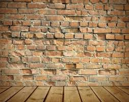 interior old brick wall wooden floor stock photo