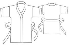 Robe Sewing Pattern Simple Women Underwear 48 Silk Robe