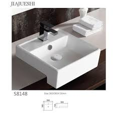oem white ivory golden silver and colorful semi recessed wash basin