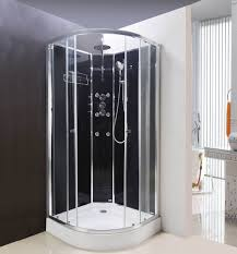 shower cubicles. Lisna Waters Olympia Black 800 X 800mm Hydro Massage Shower Cabin LW16 . Cubicles