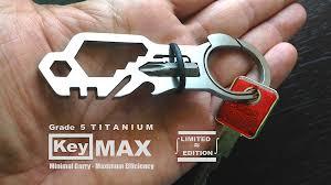 Quick Clip Push Button Key Ring Lightweight Grade