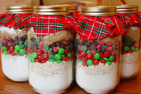 cookie mix in mason jars